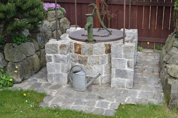 water well outside the house